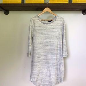 GAP Navy/White Marl Textured Tunic Dress - L